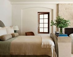 I like the idea of a dresser at the end of the bed. Very doable. -LmC  Atelier-AM-design-california-2014-habituallychic-016