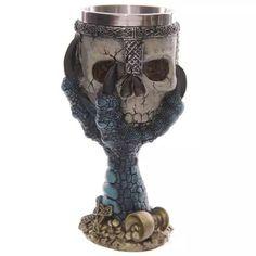 Skull Skeleton Hand Design Stainless Steel Mug Cup