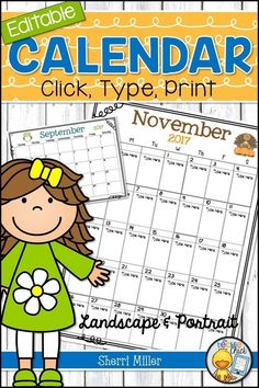 Jul 18, 2019 - These editable seasonal monthly calendars are so easy to use, versatile and look cute, too. Just click in the ready made text boxes, type and print. The text size will shrink automatically when you fill the boxes to fit the text. Calendars are included in portrait and landscape options.Calendars can be used for your teacher binder, upcoming events, schedules, homework, tracking behavior, planning, reminders and so much more! Teacher Notebook, Teacher Binder, Teacher Tools, Teacher Resources, Teaching Ideas, School Resources, Teacher Hacks, Classroom Resources, Classroom Organization