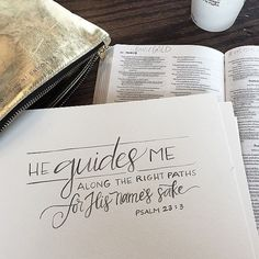 All of His ways are good. He is good. He will guide you along the right paths for your life. You don't have to worry if you're not sure how to get from point A to point B... just get up close to Him. Walk in step with Him and let Him lead you. Go when He says go. Stay when He says stay. Trust Him. He will lead you in the perfect way, for your good and for His glory. No one who puts their hope, expectation, and trust in Him will ever regret it!