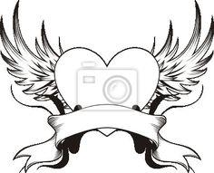 tattoo winged heart