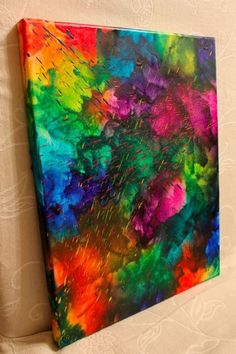 35. All the #Colors - 36 Vibrant #Examples of Crayon Art ... → DIY #Background