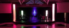 Glowing Columns   Church Stage Design Ideas