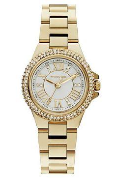 Michael Kors 'Mini Camille' Pavé Bezel Bracelet Watch, 26mm available at #Nordstrom