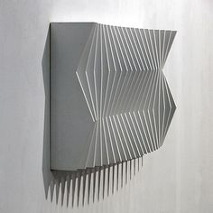 Ueli Gantner on how to visualize light Parametrisches Design, Wood Design, Sculpture Art, Sculptures, Parametric Design, Geometric Art, Wood Wall Art, Installation Art, Textures Patterns