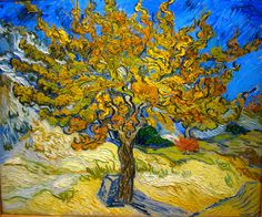 Vincent van Gogh - The Mulberry Tree; 1889. Quote - I dream my paintings and then I paint my dreams.