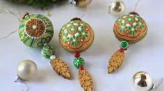 How to Make 3-D Embossed Christmas Ornaments