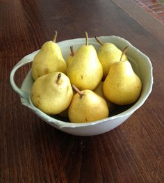 Fair Trade Organic Pears.  Pleasantly surprised to find these at A & P in Little Silver.  So tasty and juicy!