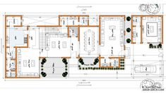 Square House Plans, My House Plans, Family House Plans, Duplex House Design, Home Room Design, Duplex Plans, Villa Plan, Architectural Floor Plans, House Map