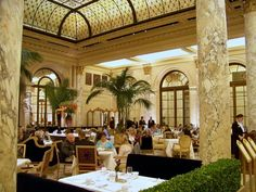 The Palm Court  at the Plaza Hotel ~ NYC  (photo by jone suleski)