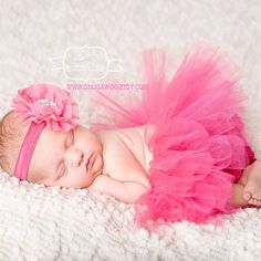 Hot pink Newborn tutu Infant Baby Girl Tutu WITH by SnugAWoo