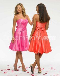 A-Line/Princess Spaghetti straps Knee-Length Bridesmaid Dresses