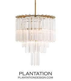 PLANTATION | Trenton Glass Chandelier