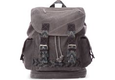 undefined Charcoal Canvas Savanna Backpack