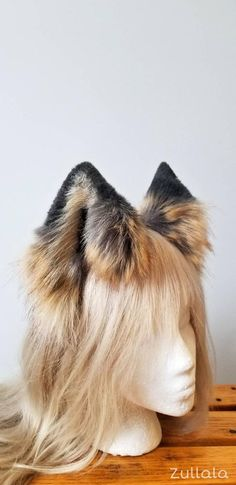 RU PAWSTAR Furry WOLF EArs /& TAIL Set Rust Brown cosplay COSTUME FOX 4005