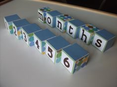 Baby Blocks - Baby Photo Prop - Monthly Pictures - Wooden Number Blocks