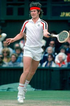 John McEnroe, shorts, red headband and fro, this iconic outfit . Tennis Party, Lawn Tennis, Sport Tennis, Camp Hero, Jimmy Connors, Tennis Videos, Tennis Photos, Tennis Funny, Tennis Legends
