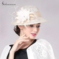 Summer Sun Hat for Women UV Protection Elegant Flowers Ivory Ladies Hats Cap Church Hats Femme Caps Chapeau – Hair Internet Fast Fashion, Trendy Fashion, Womens Fashion, Fashion Hats, Fashion Black, Style Fashion, Fashion Trends, Sun Hats For Women, Church Hats
