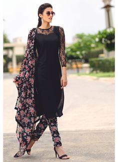 cute floral churidar. Custom made availaible at Royal Threads Boutique. To order whatsapp at +919646916105