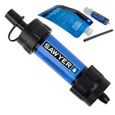 Mini Water Filtration System. Ideal for outdoor recreation, hiking, camping, scouting, domestic and international travel and emergency preparedness! Sawyer Pro