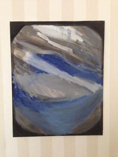 Blå dimma - Akryl på canvas