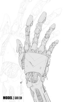 Went out of my comfort zone and drew a robot hand.