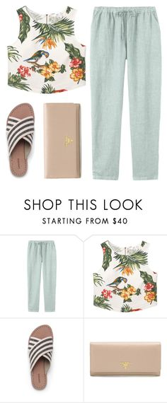 """Going Out"" by sweet-jolly-looks ❤ liked on Polyvore featuring Toast, MANGO, Lands' End, Prada, casual, chic, simple and croptops"