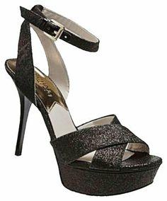 5eb07cb6dde3 Michael Kors Black M  gideon  Glitter Platform Heels Pumps Size US 7.5  Regular (M