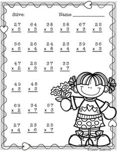 Need extra practice with multiplication? This set includes 10 pages of 2 digit by 1 digit multiplication with regrouping practice. An answer key for each page is included. Thanks for stopping by Copper Classroom. 2nd Grade Math Worksheets, 4th Grade Math, Third Grade, Math Stations, Math Centers, Math Games, Math Activities, Math Math, Two Digit Multiplication