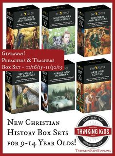 Trailblazers Christian History for 9-14 year olds now come in box sets! Giveaway for Preachers & Teachers set ends 11/30/2015.