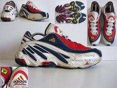 90`S VINTAGE ADIDAS TORSION EQUIPMENT SOLUTION FEET YOU WEAR RUNNING SHOES…