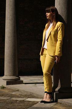 Traje amarillo Zara, primavera-verano 2013. #Tendencia