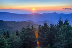 Blue Ridge Parkway Autumn Sunset over Appalachian Mountains Print by digidreamgrafix - at AllPosters.com.au