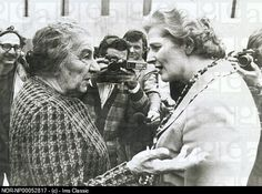 Golda Meir and Margaret Thatcher.  Two women who changed the world. Inspiring!