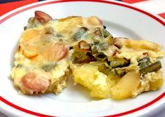 Zöldbabos tepsis krumpli   Ájvi receptje - Cookpad receptek Naan, Potato Salad, Cauliflower, Chili, Potatoes, Chicken, Vegetables, Ethnic Recipes, Food