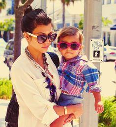 Kourtney Kardashian. Mason is so damn cute!
