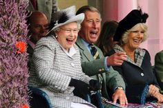 It's not often you see pictures of the queen roaring with laughter, which is why this shot of her at the Braemar Highland games with Prince Charles and his wife, Camilla, in 2006, is such a gem.