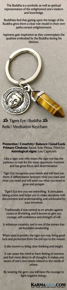 Keychains | Reiki Healing Chakra Keyrings | Like a tiger, one who wears the tiger eye has the patience to wait for the most opportune moment and has great focus and determination. #TigersEye #Tigers #Eye #Buddha #Keychains #Keyrings #Charm GiftsForHim #Lucky #womens #Jewelry #gifts #Chakra #Kundalini #Mantra #Mala #wisdom #Keys #Spiritual #Gifts #Blog #Mommy #Meditation