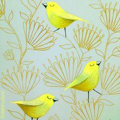 Yellow and gold playing around with colours #colouredpencildrawing #prismacolorpencils #debihudson  #designprocess #handdrawn #illustration #artdaily2016 #illustrationartists #creativehappylife #creativewomen #melbourneartist #instaartist #artofinstagram #artistsofinstagram #greetingcards #makearteveryday #yellowandgold #gold #bird #birdillustration #floral #flowers