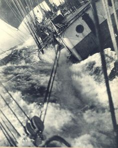 Sailing in rough seas Nautical Pictures, Sea Storm, Old Sailing Ships, Sailboat Art, Merchant Navy, Stormy Sea, Set Sail, Tall Ships, Water Crafts