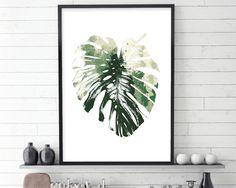 Monstera, Monstera Leaf, Green, Scandinavian Print, Scandinavian Art, Scandinavian Abstract, Minimalist Poster, Botanical, Leaf, Dark Green by UrbanEpiphanyPrints on Etsy