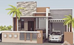 59 ideas for exterior building design garage Single Floor House Design, Simple House Design, House Front Design, House Paint Exterior, Exterior House Colors, Exterior Design, Garage Exterior, Independent House, House Elevation