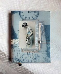 Notebook Fabric Covered A6 Antiqued Coffee Paper Textile Handmade Notebook Vintage Style Journal Blank Pages Writing Pad Cotton Book Cover