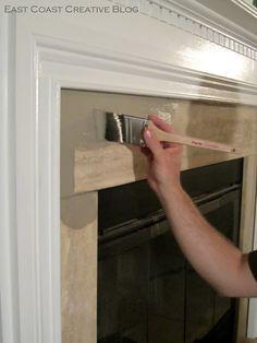 Simple Fireplace Upgrade {Annie Sloan Chalk Paint} - East Coast Creative Blog