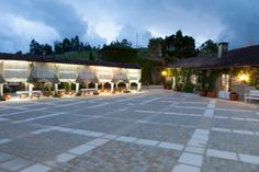 Bodega Albariño Pazo de Señorans. Pontevedra (Galicia, Spain) #enoturisexperience @Enoturis Wineries, Caves, Sidewalk, Patio, Outdoor Decor, Home, Wine Cellars, Architecture, Side Walkway