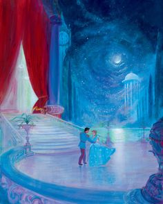 Disney's Prince Charming and Cinderella dancing under the stars - So This Is Love Disney And Dreamworks, Disney Pixar, Disney Characters, Disney Animation, Arte Disney, Disney Magic, Disney Fairies, Disney Dream, Disney Love