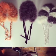 Feather collars from the SS15 capsule collection by Blanche in the Brambles.