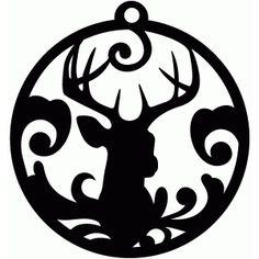 Silhouette Design Store - View Design #71793: deer flourish tag