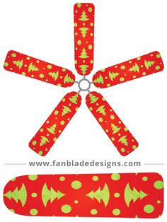 Fan Blade Designs fan blade covers - Snowflakes