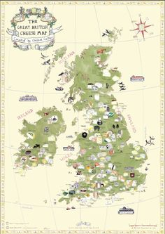 Great British Cheese map created by Cheese Cellar